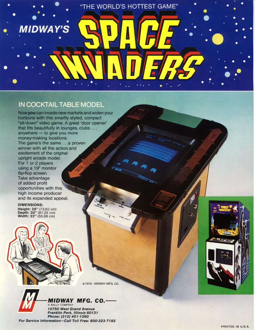 Needed Midway S Space Invader Coin Op Videogame Arcade
